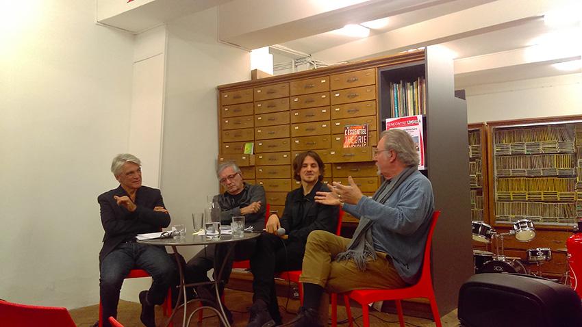 « Poésie et architecture » avec de gauche à droite : Chrisitian Salle, Jean-Paul Loubes, Eric Cassar et Julien Blaine.